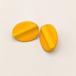 VTG Bakelite TESTED MCM Lemon Creme Earrings